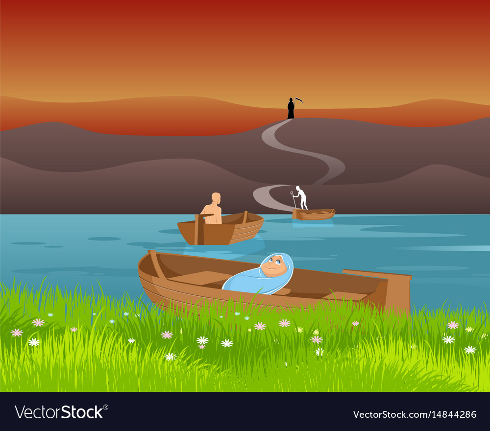 Birth and death vector image