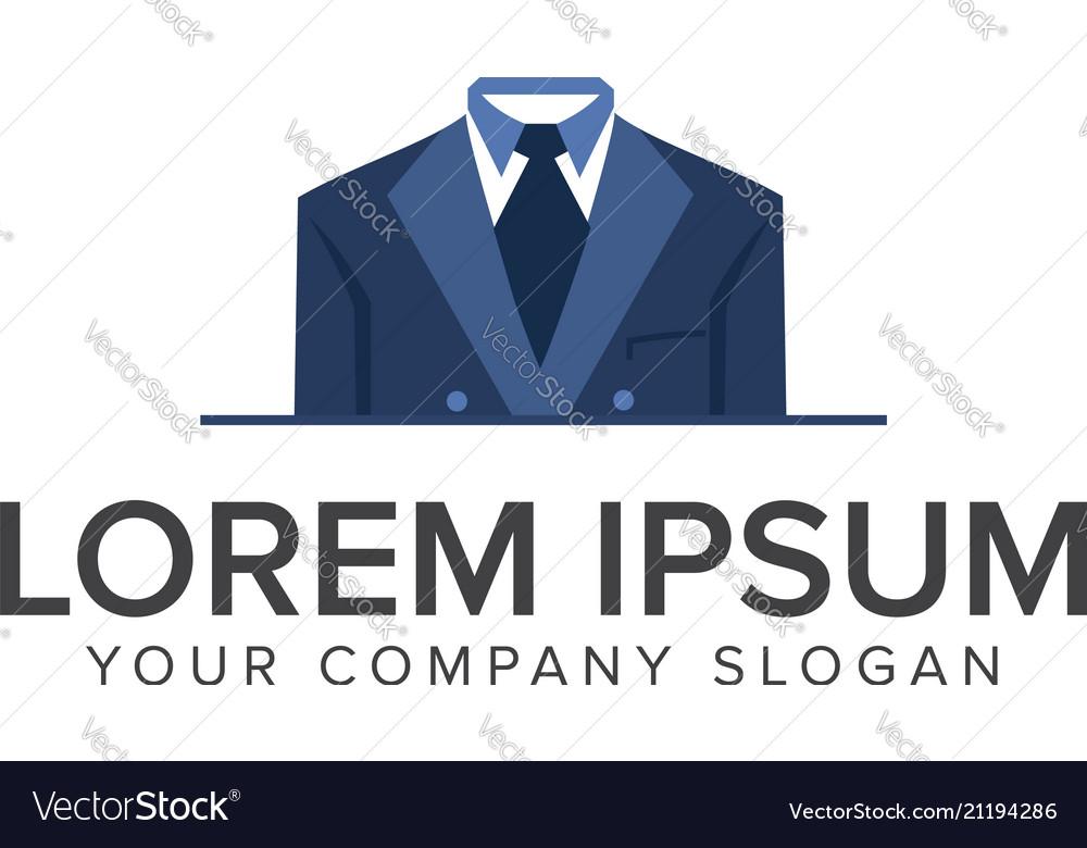 Business man clothes logo design concept template