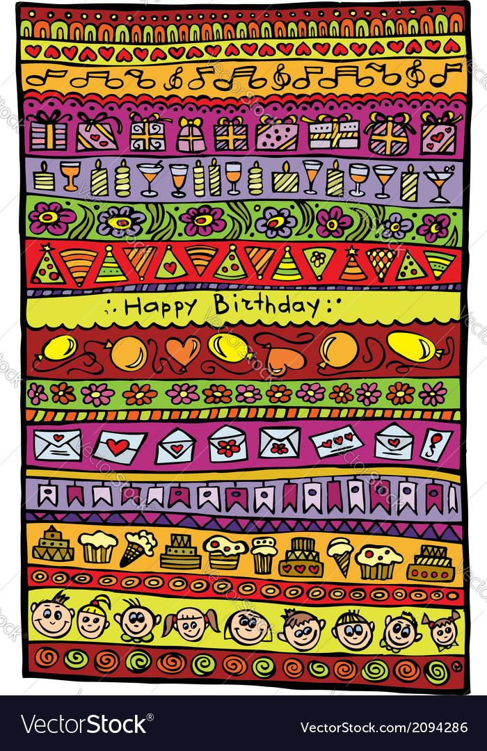 Happy birthday design background
