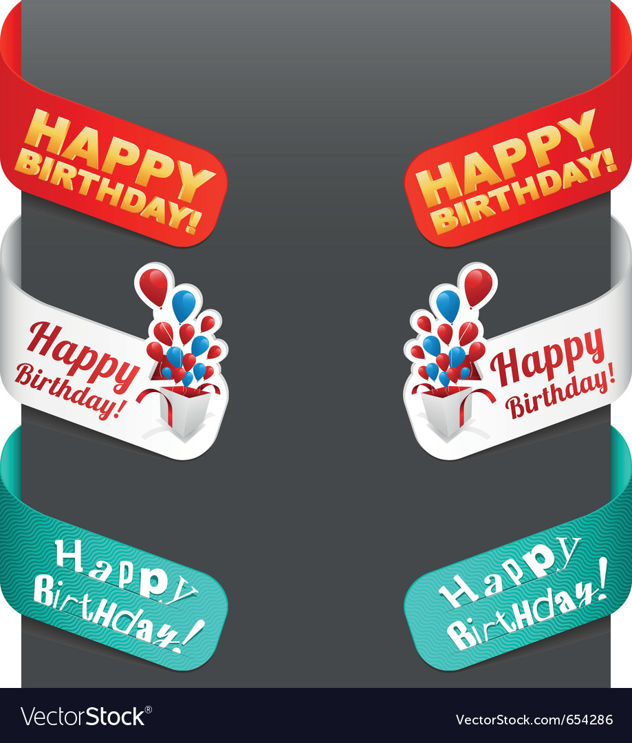 Left and right side signs - happy birthday