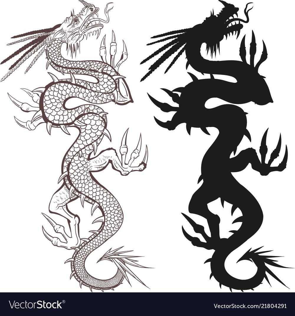 Chinese dragon creeping upwards