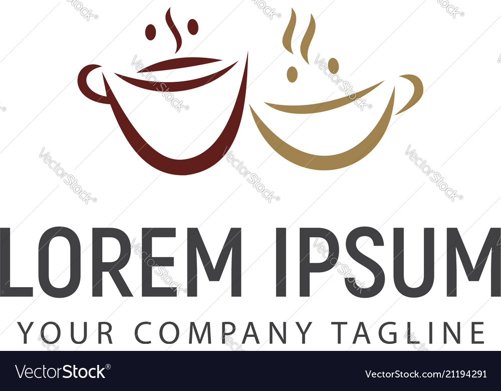 Couple coffee logo design concept template