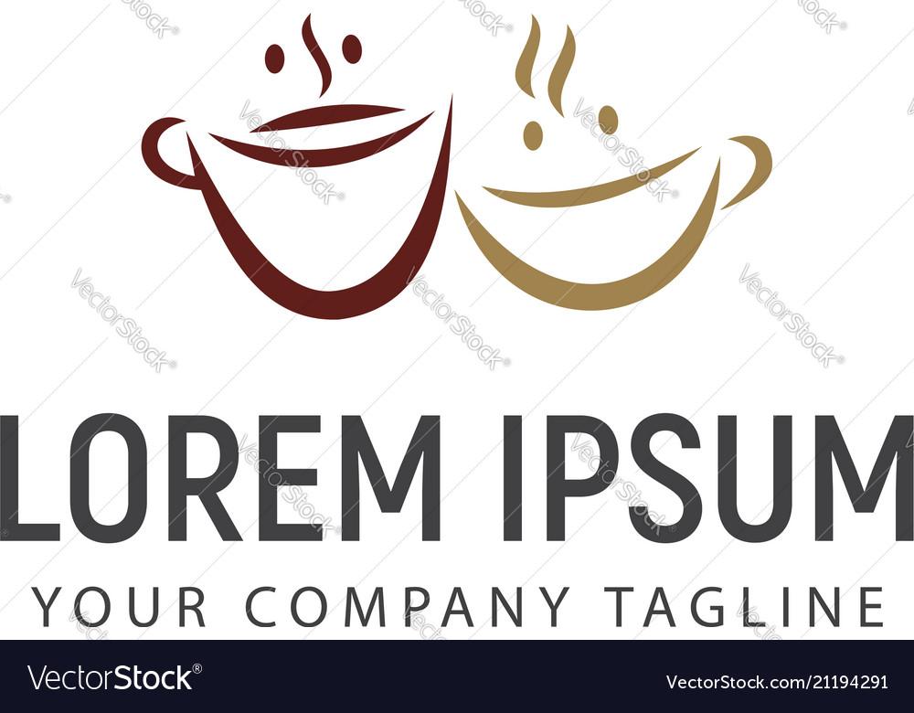 couple coffee logo design concept template vector image