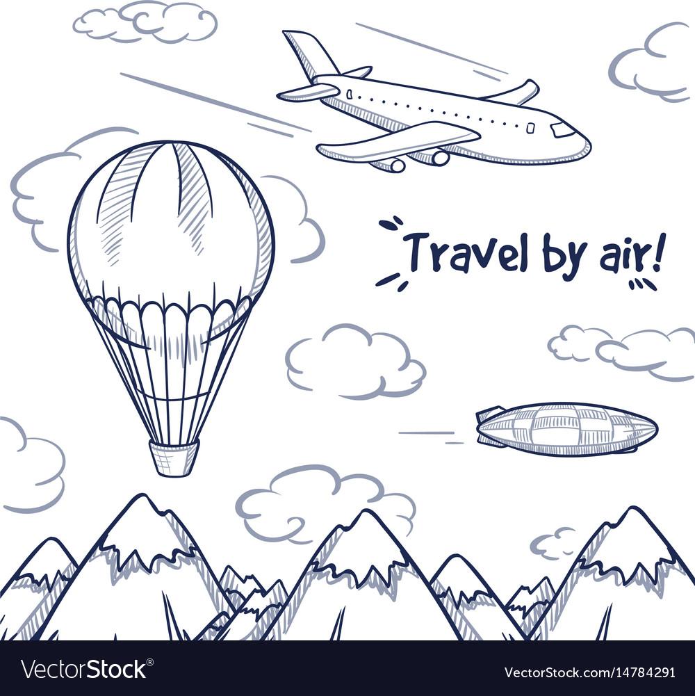Doodle air trip concept