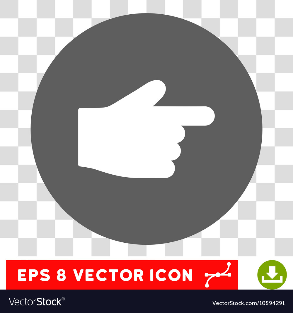 Index Finger Round Eps Icon
