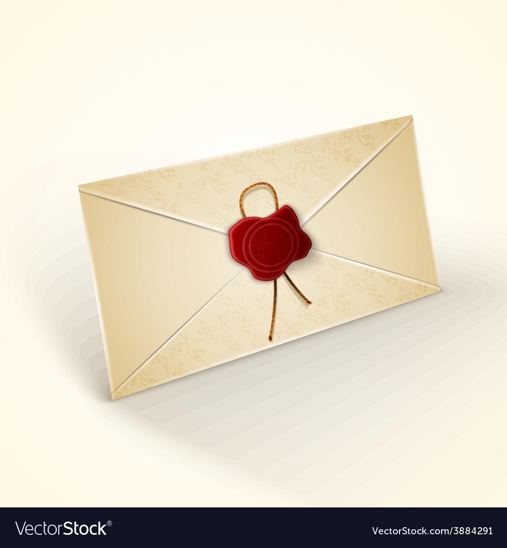 Old vintage style envelope