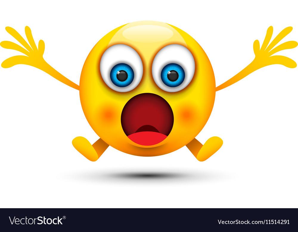 Shocked Emoji Character Royalty Free Vector Image