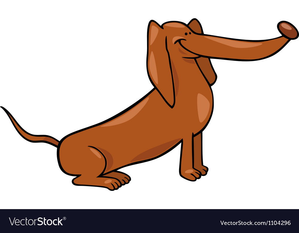 Cute dachshund dog cartoon