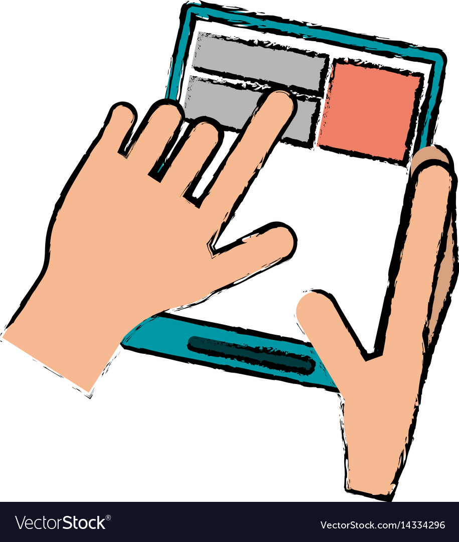 Drawing hand touch tablet web page