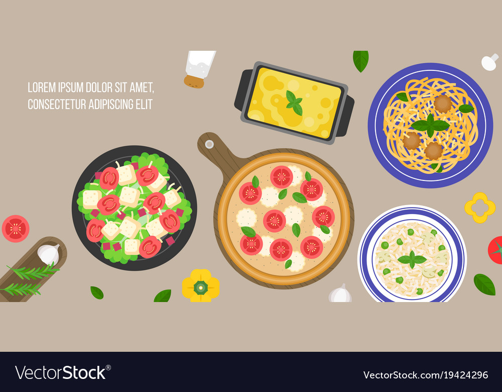 Italian cuisine caesar salad
