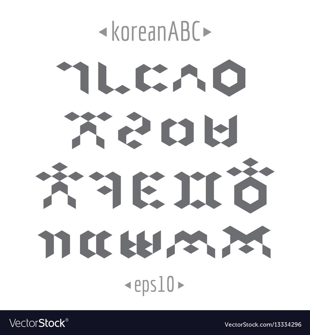Korean alphabet set