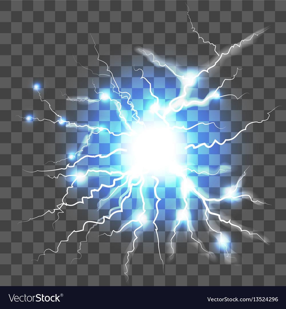 Lightning On Transparent Background Vector Image