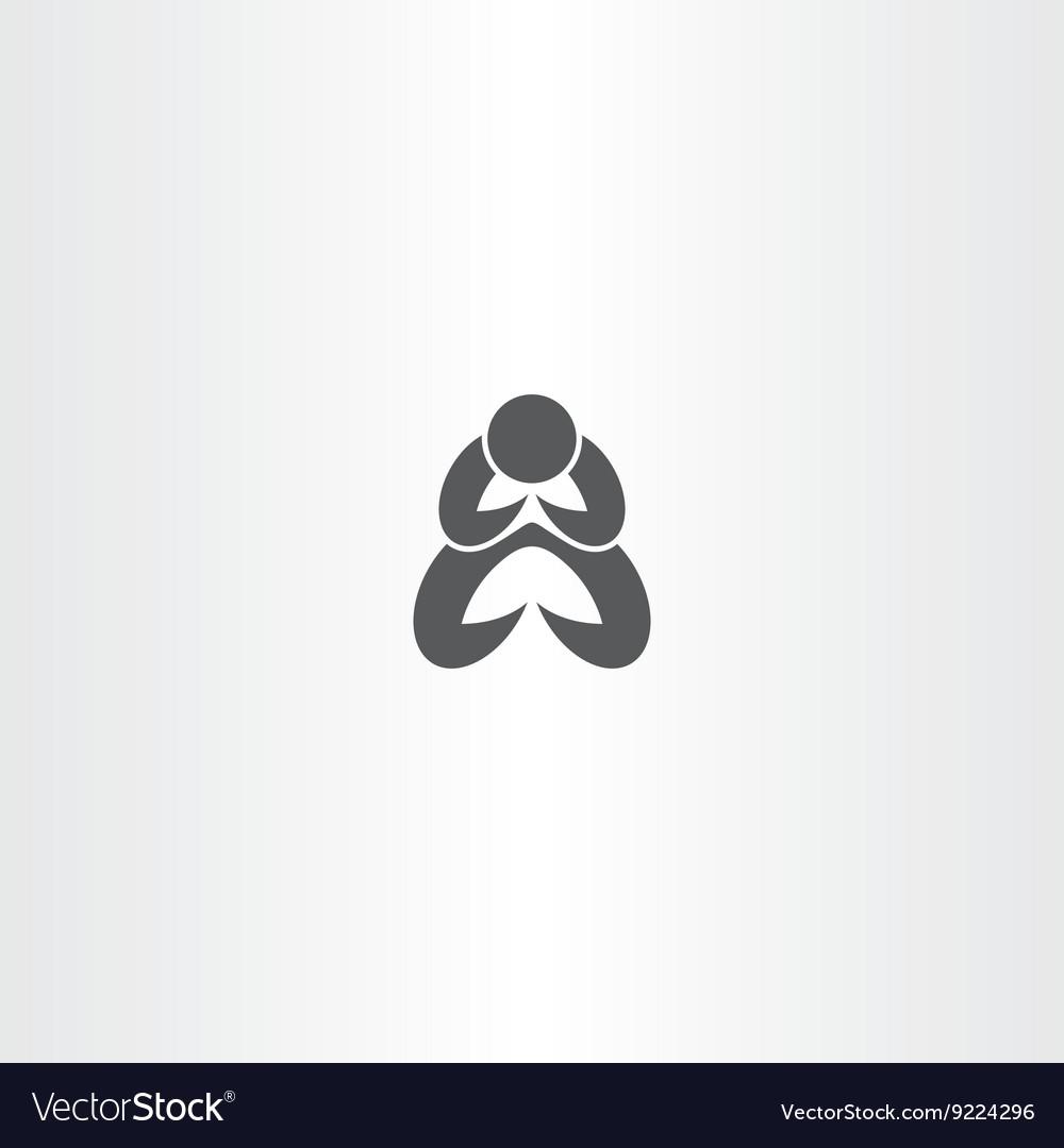 Man praying icon symbol