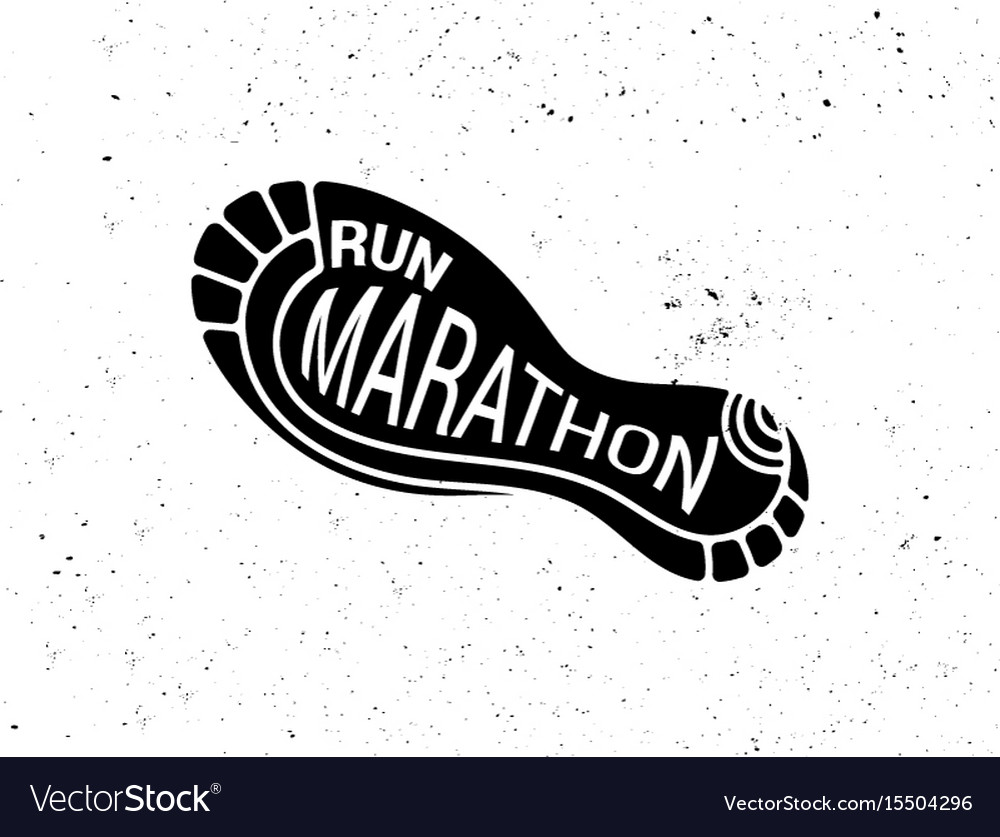 Run icon running symbol marathon poster and logo
