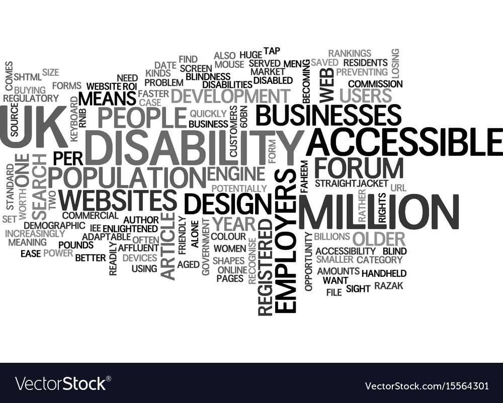 A business case for accessible website design vector image