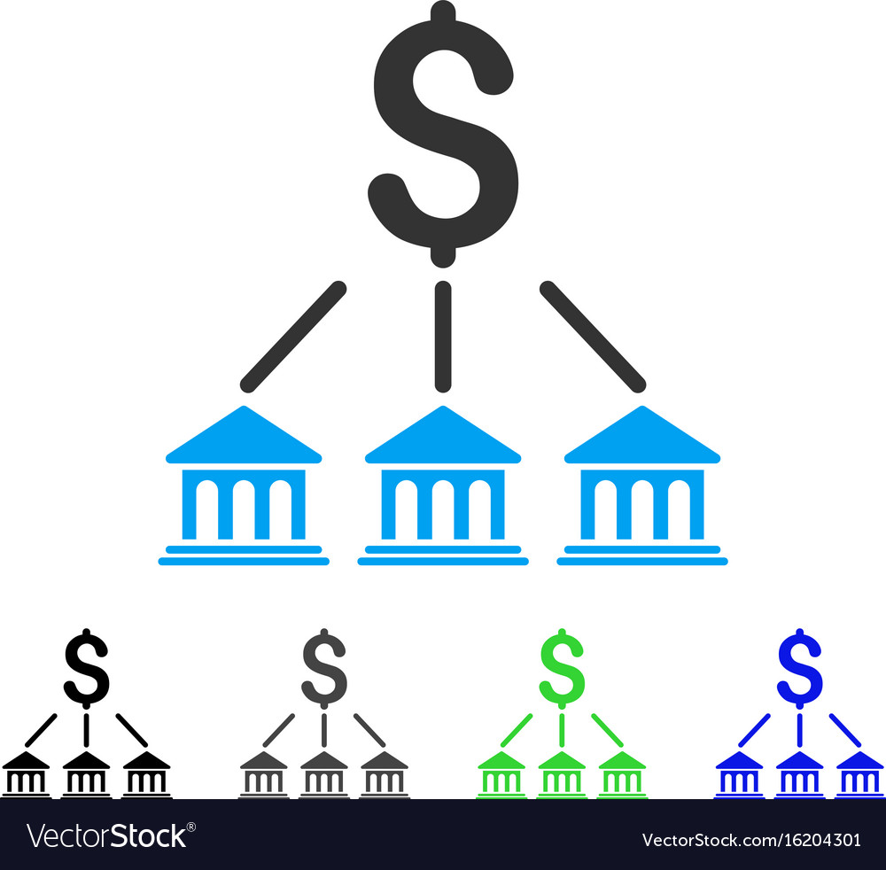 Bank organization flat icon
