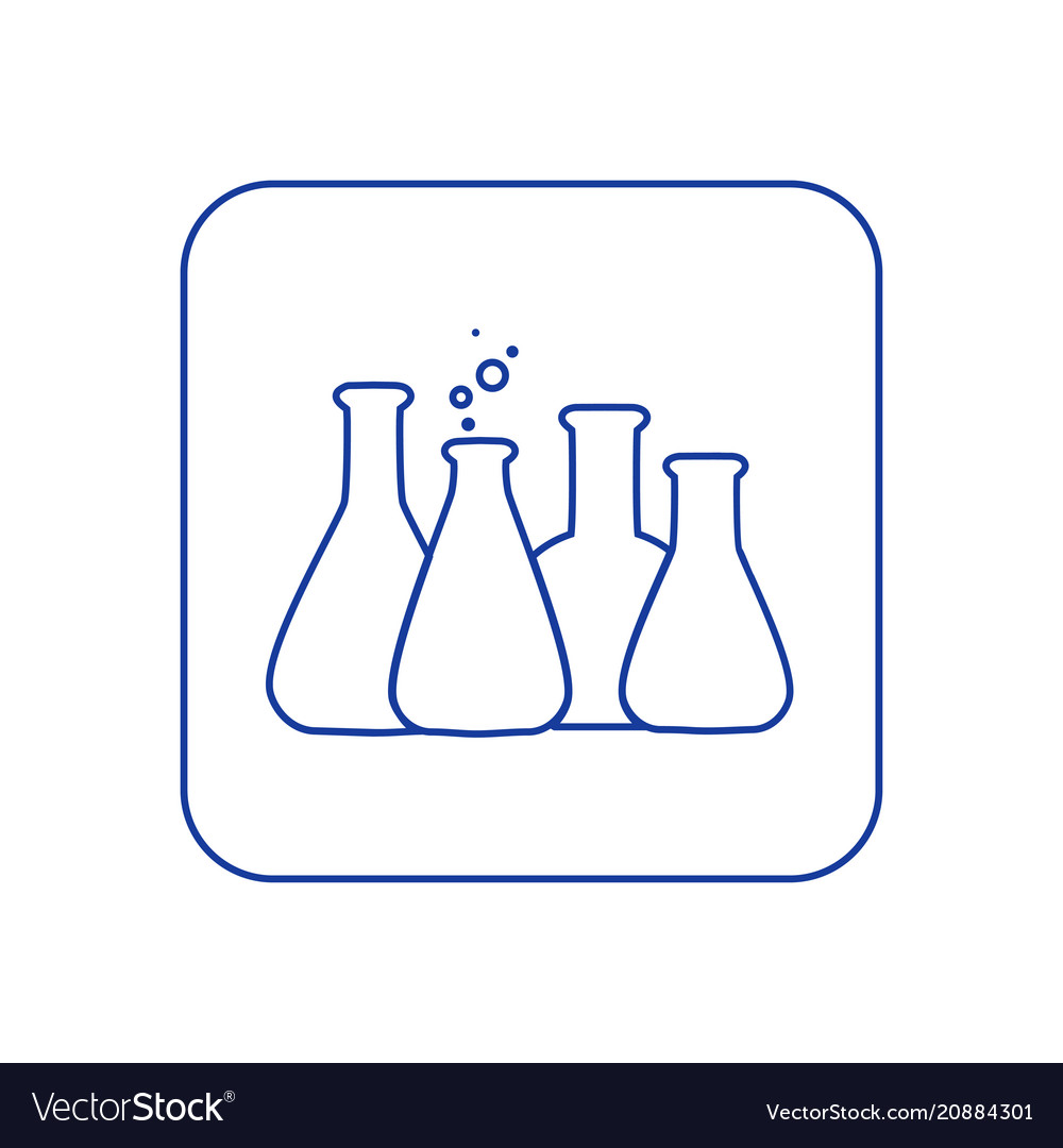 Chemical lab test tube icon