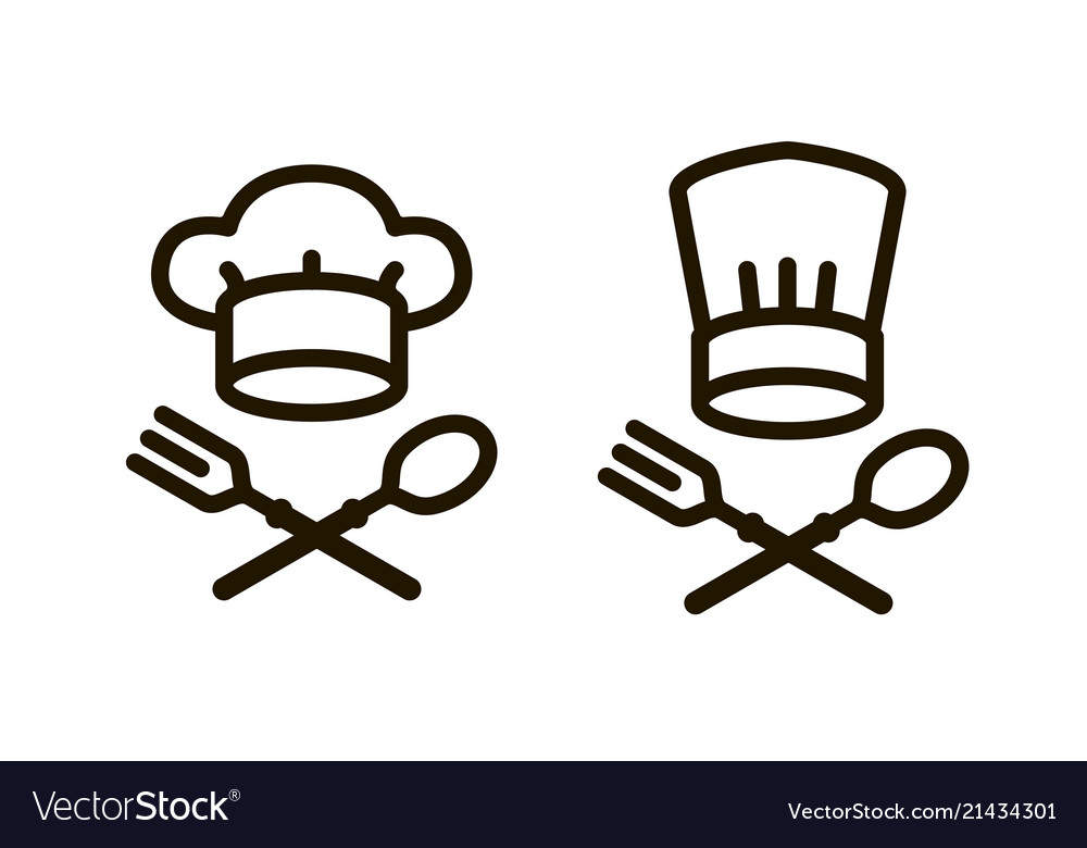 Cooking cuisine logo or icon elements of the