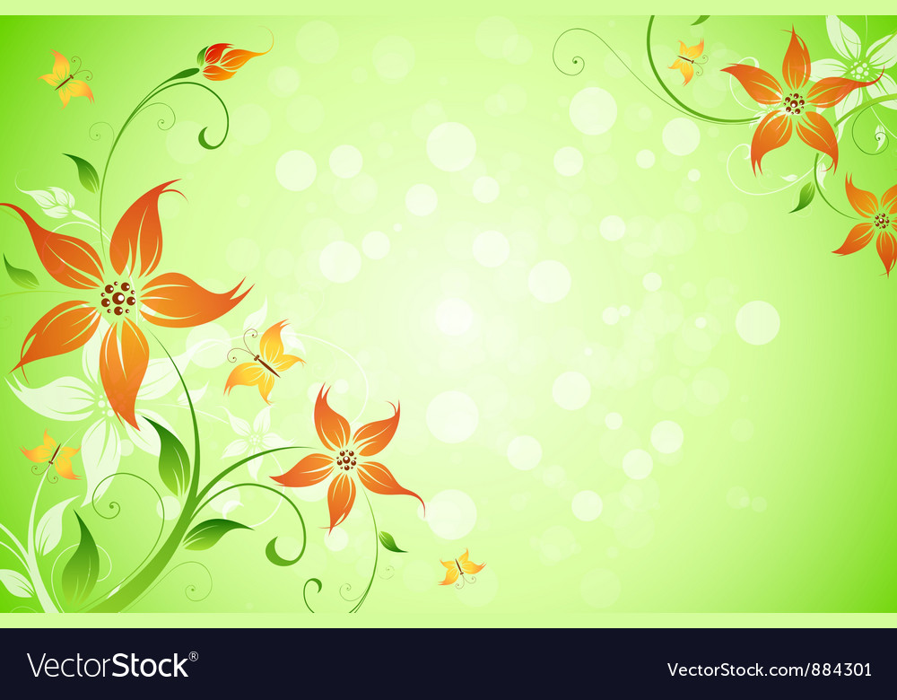 flowers background royalty free vector image vectorstock