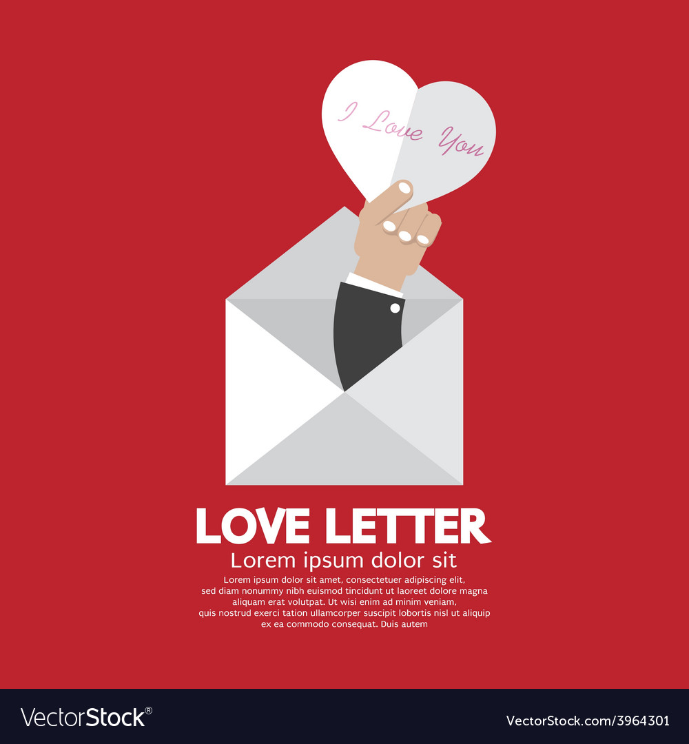 Heart In Hand Love Letter Concept