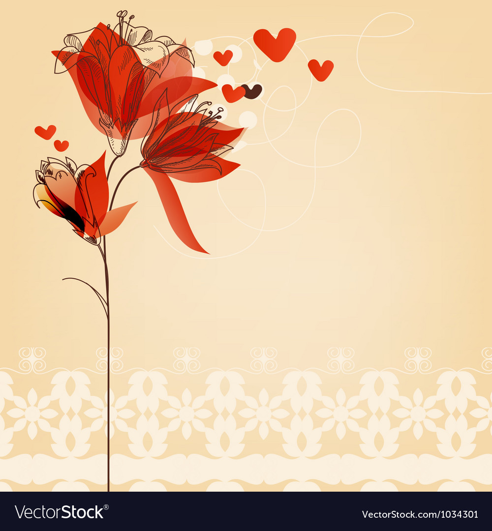 Love floral background