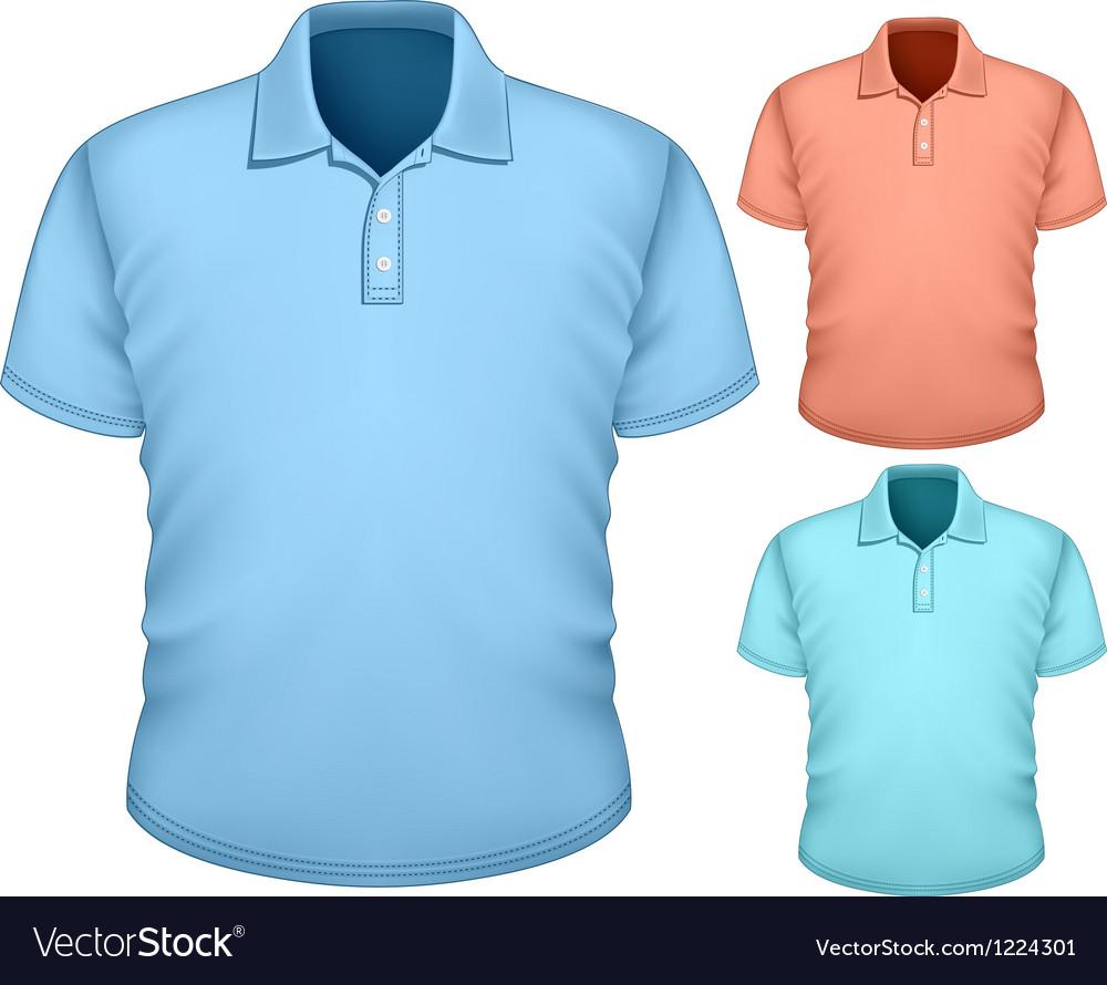 Mens Polo Shirt Design Template Royalty Free Vector Image