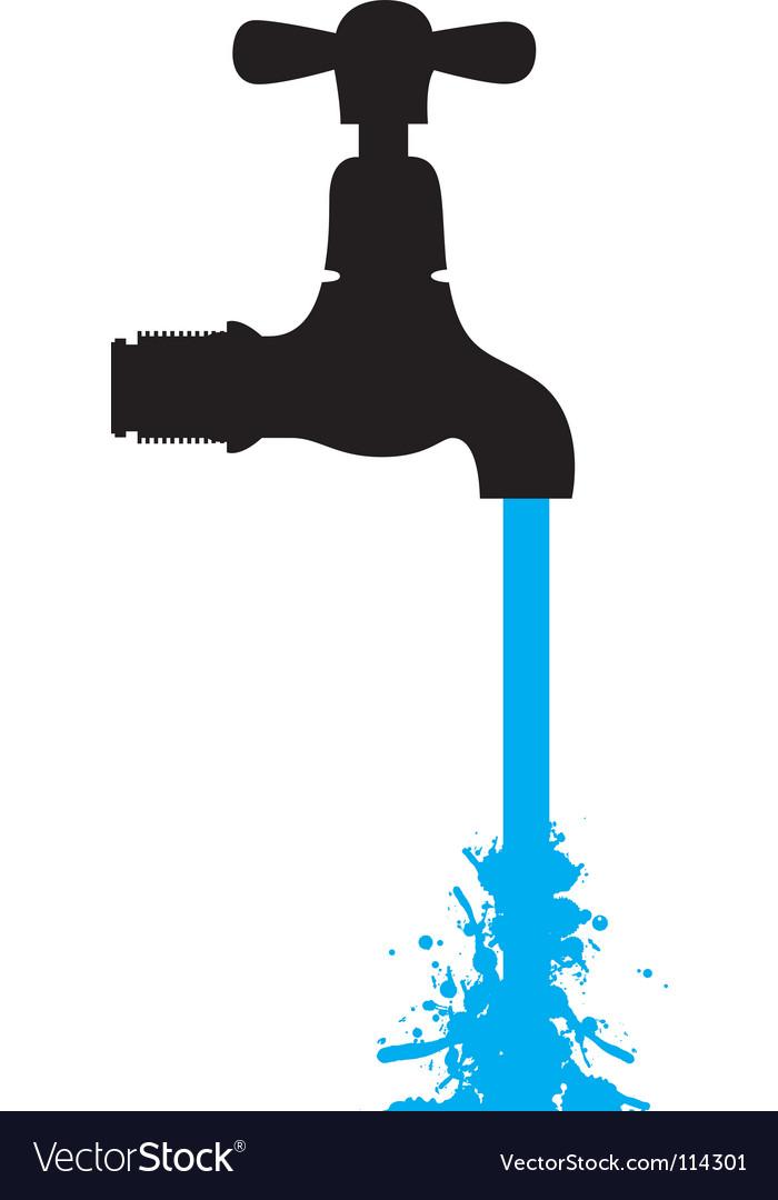 Tap water Royalty Free Vector Image - VectorStock