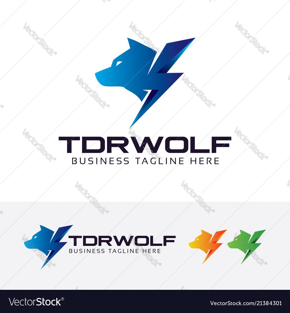 Thunder wolf logo