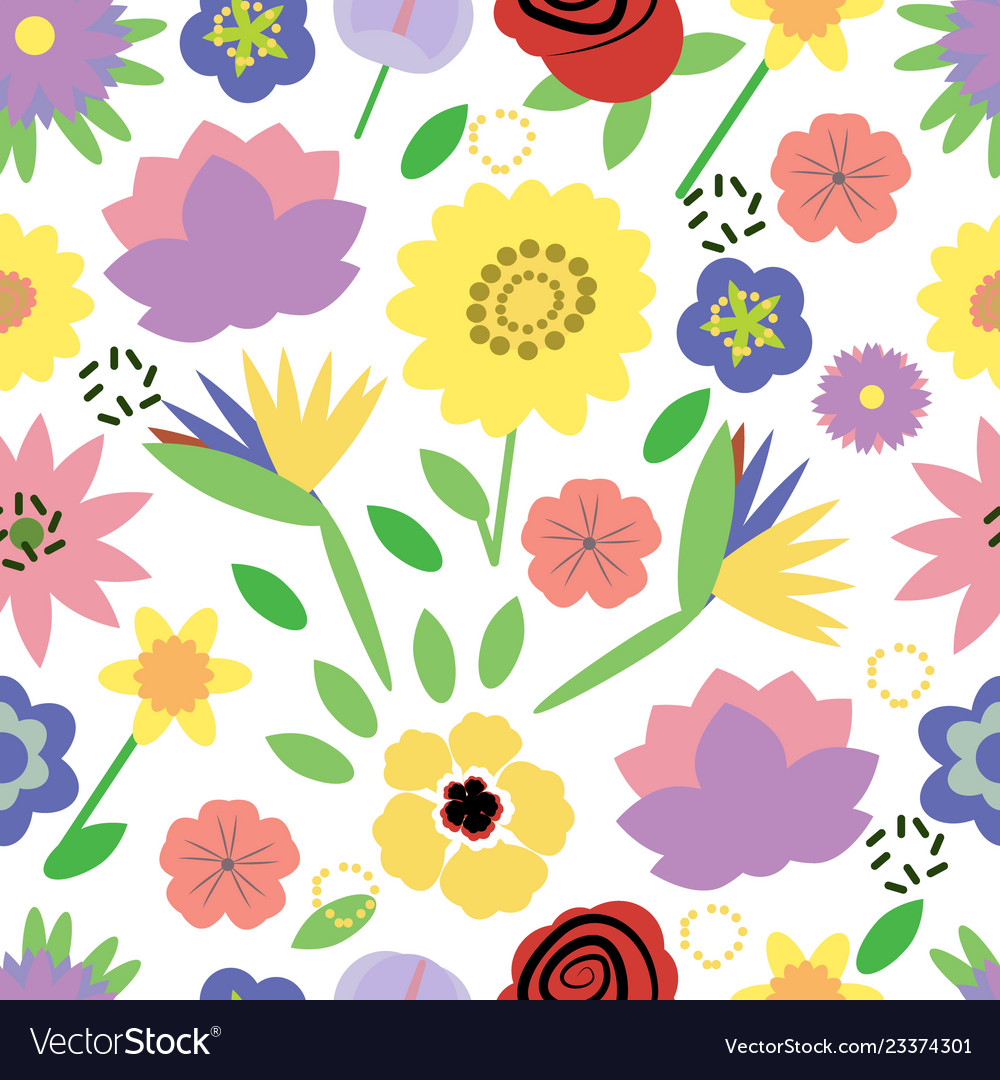 Trendy floral pattern fabric design with simple
