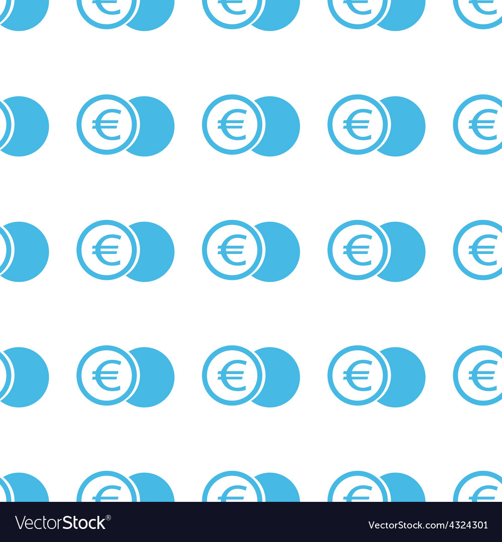 Unique Euro coin seamless pattern