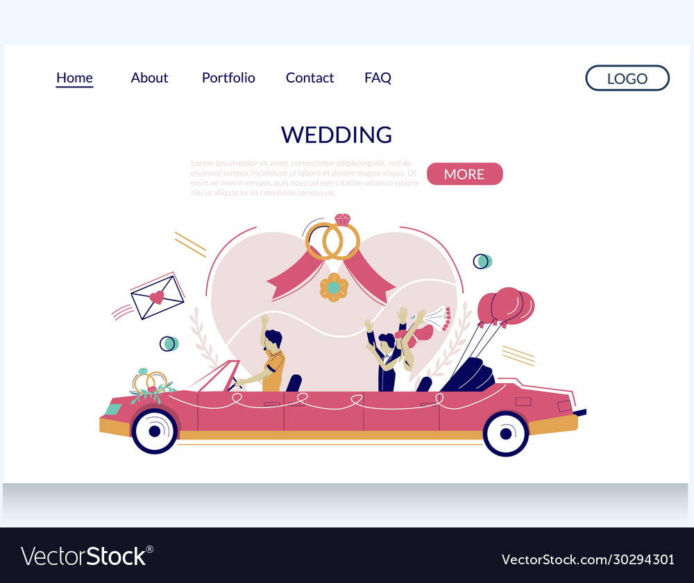 Wedding website landing page design