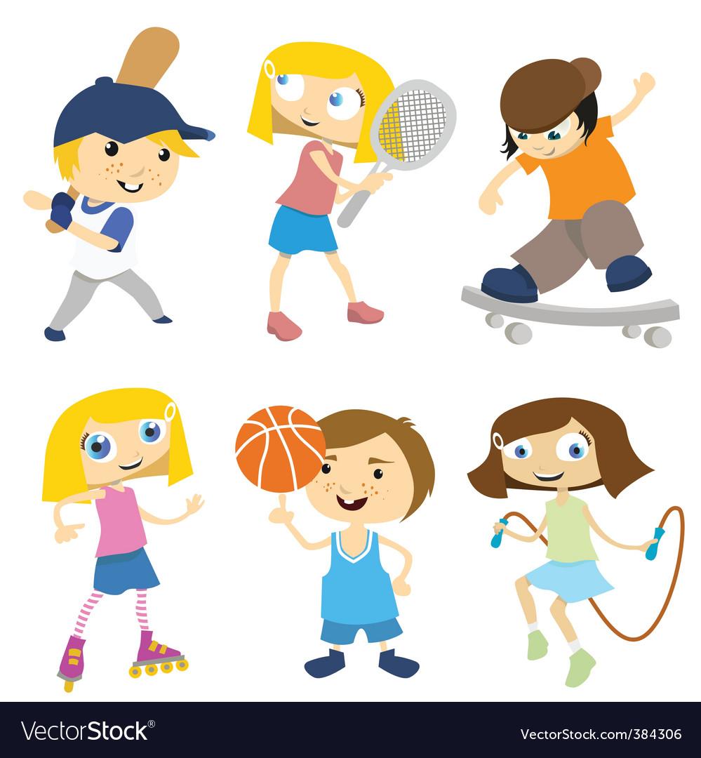 Cartoon children playing vector image
