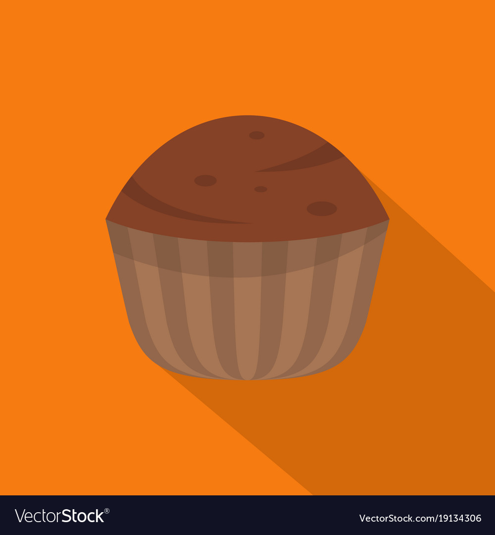 Cup cake icon flat style