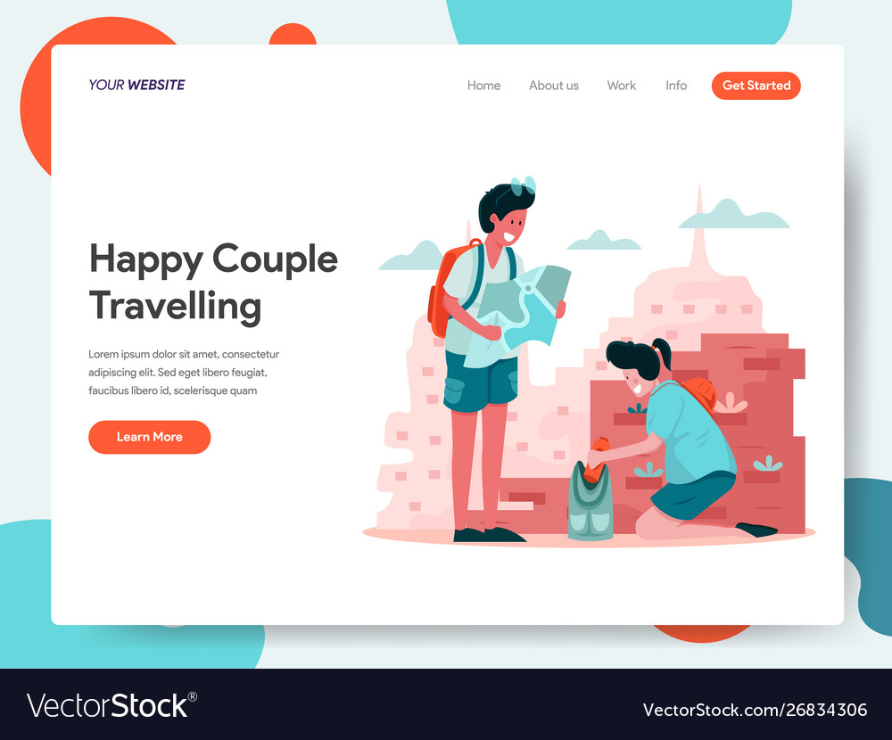 Happy couple travelling concept