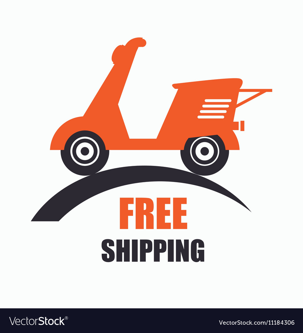 free motorcycle shipping  Motorcycle scooter free delivery icon Royalty Free Vector