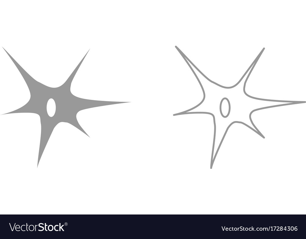 Nerve cell it is icon Royalty Free Vector Image
