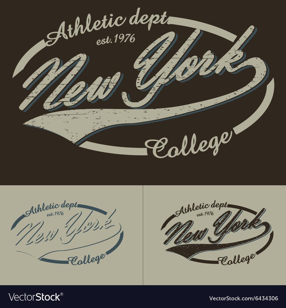 New York typography