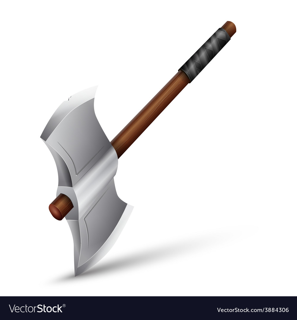 Stainless steel axe vector image