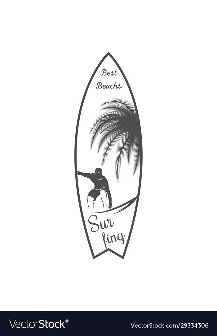 Surfboard logotype