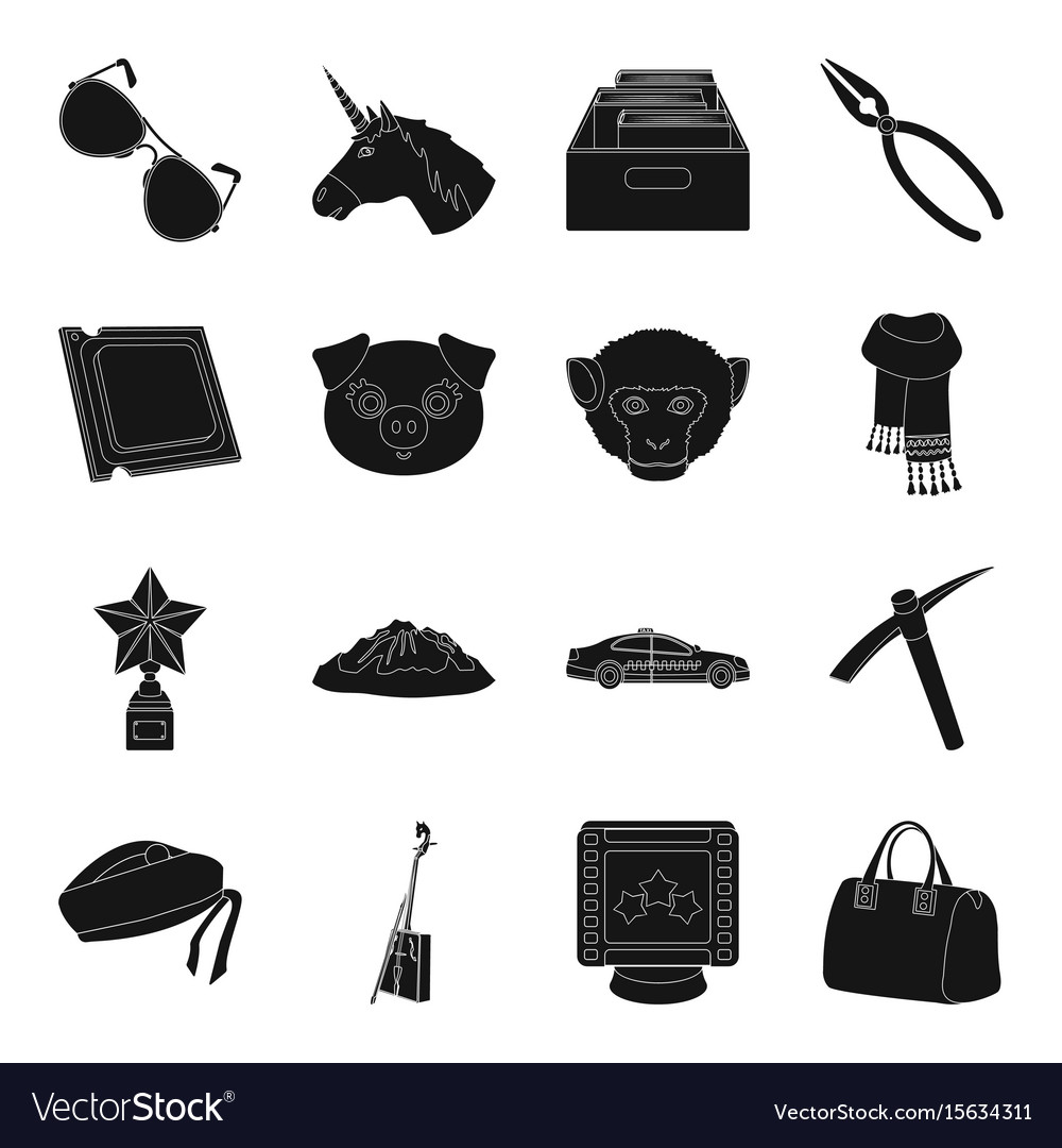 Accessories bag mine and other web icon in black