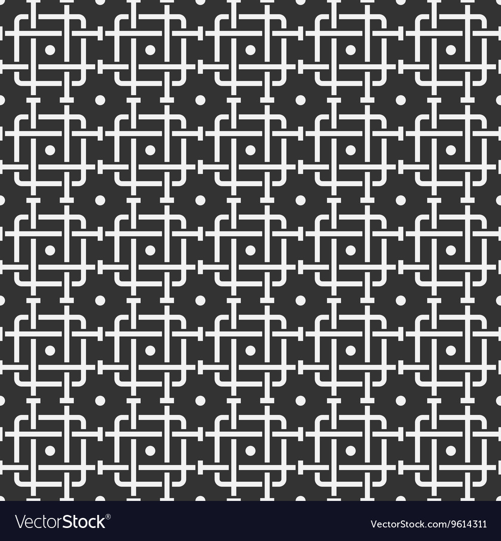 Geometric abstract seamless pattern with pipes vector image