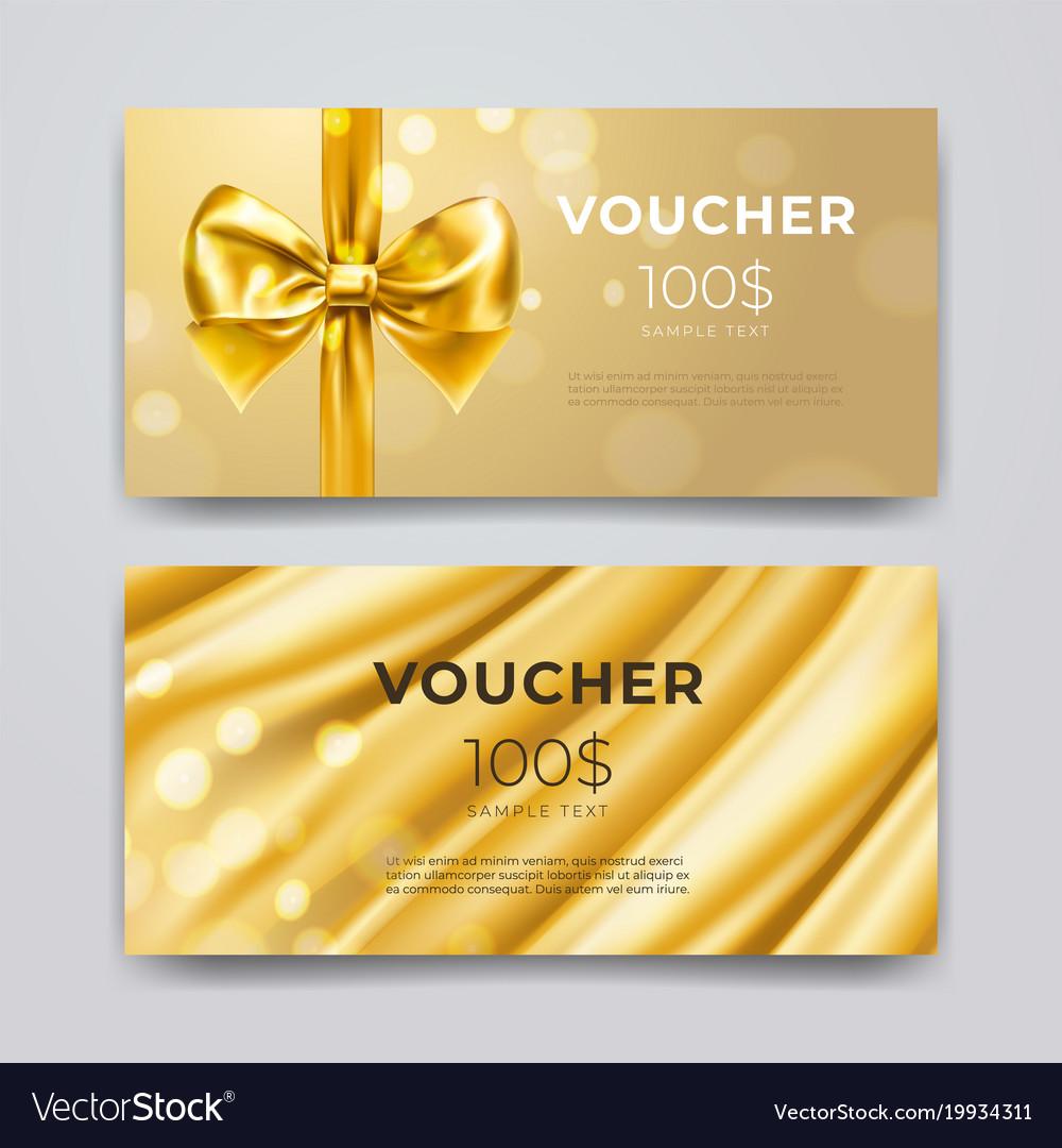 Gift voucher design template set of premium