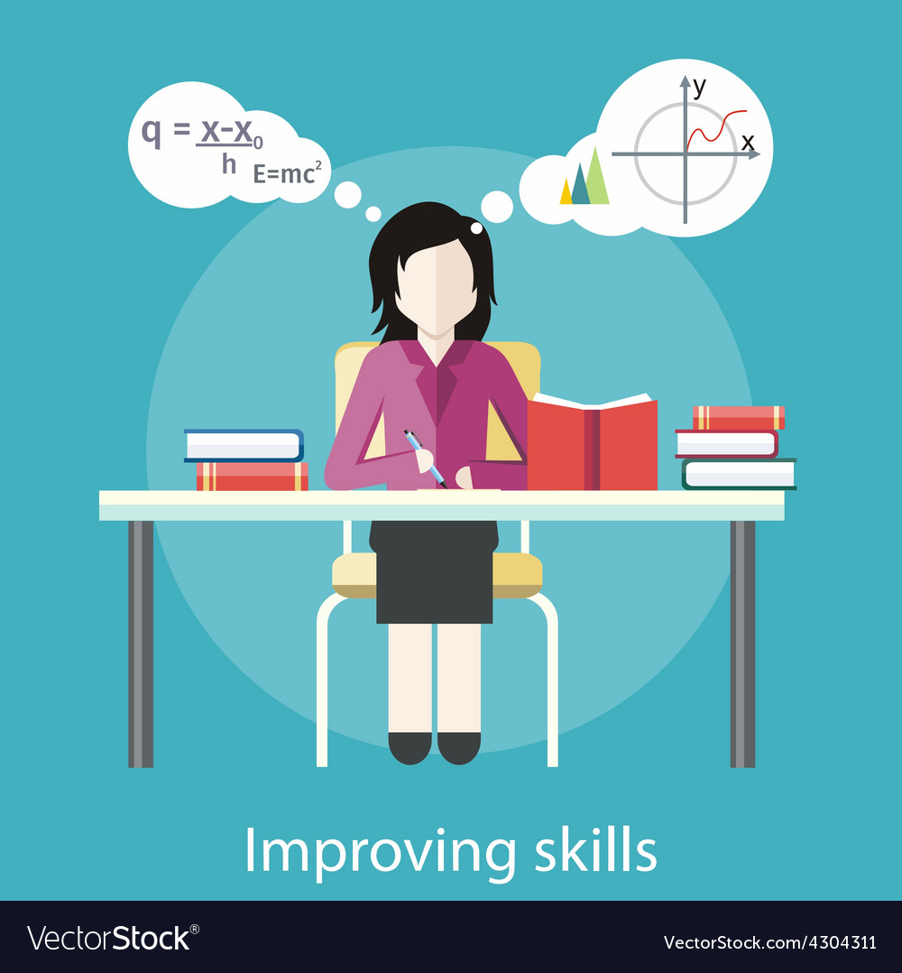 Improving Skills vector image