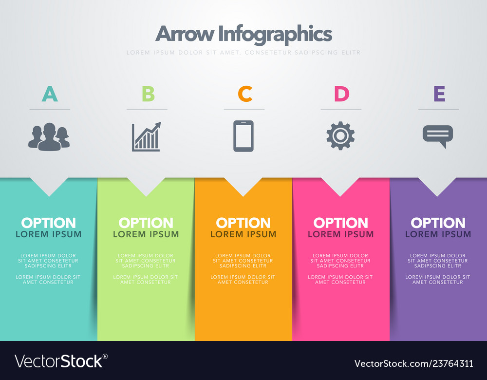 Infographic template arrow business model