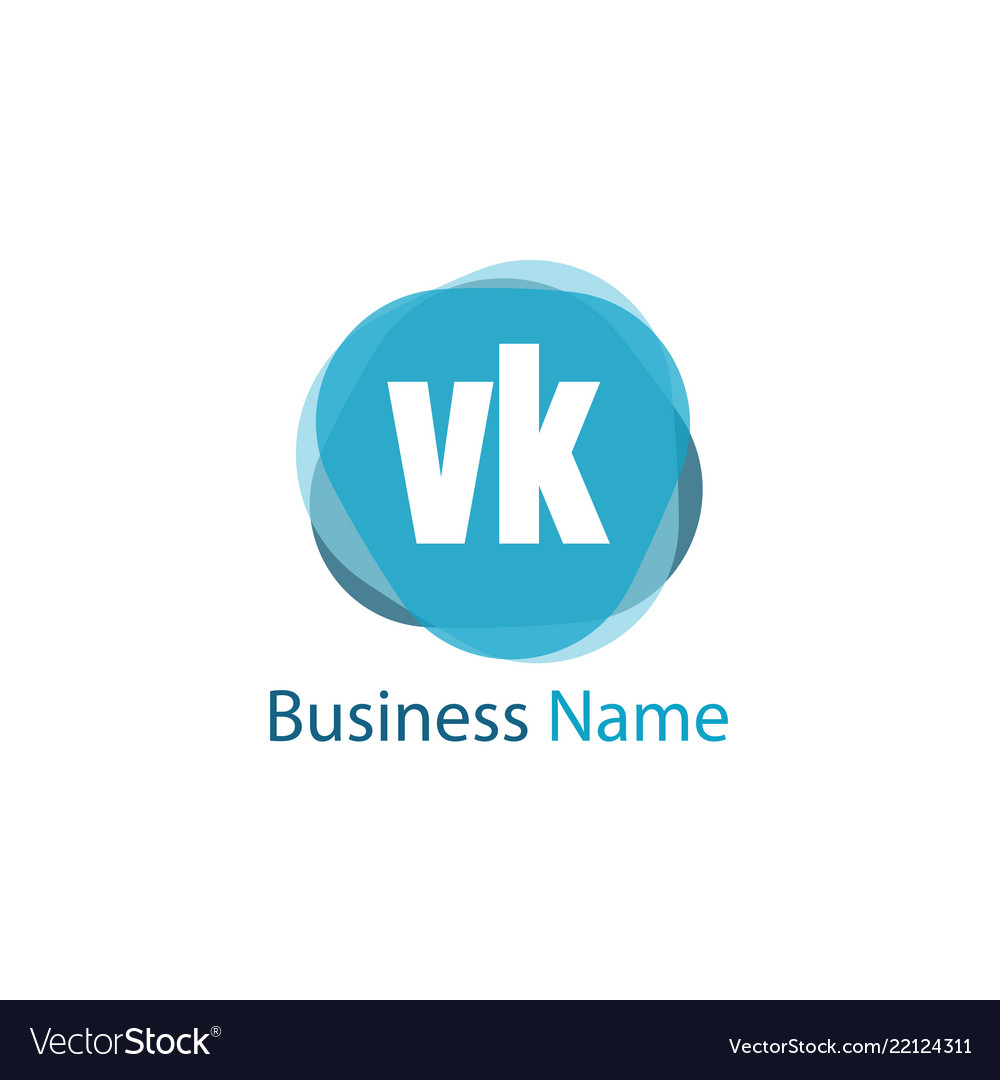 Initial Letter Vk Logo Template Design Royalty Free Vector