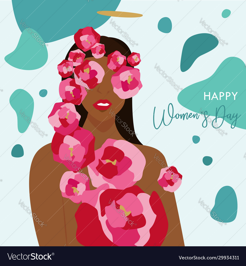 International womens day happy womens vector