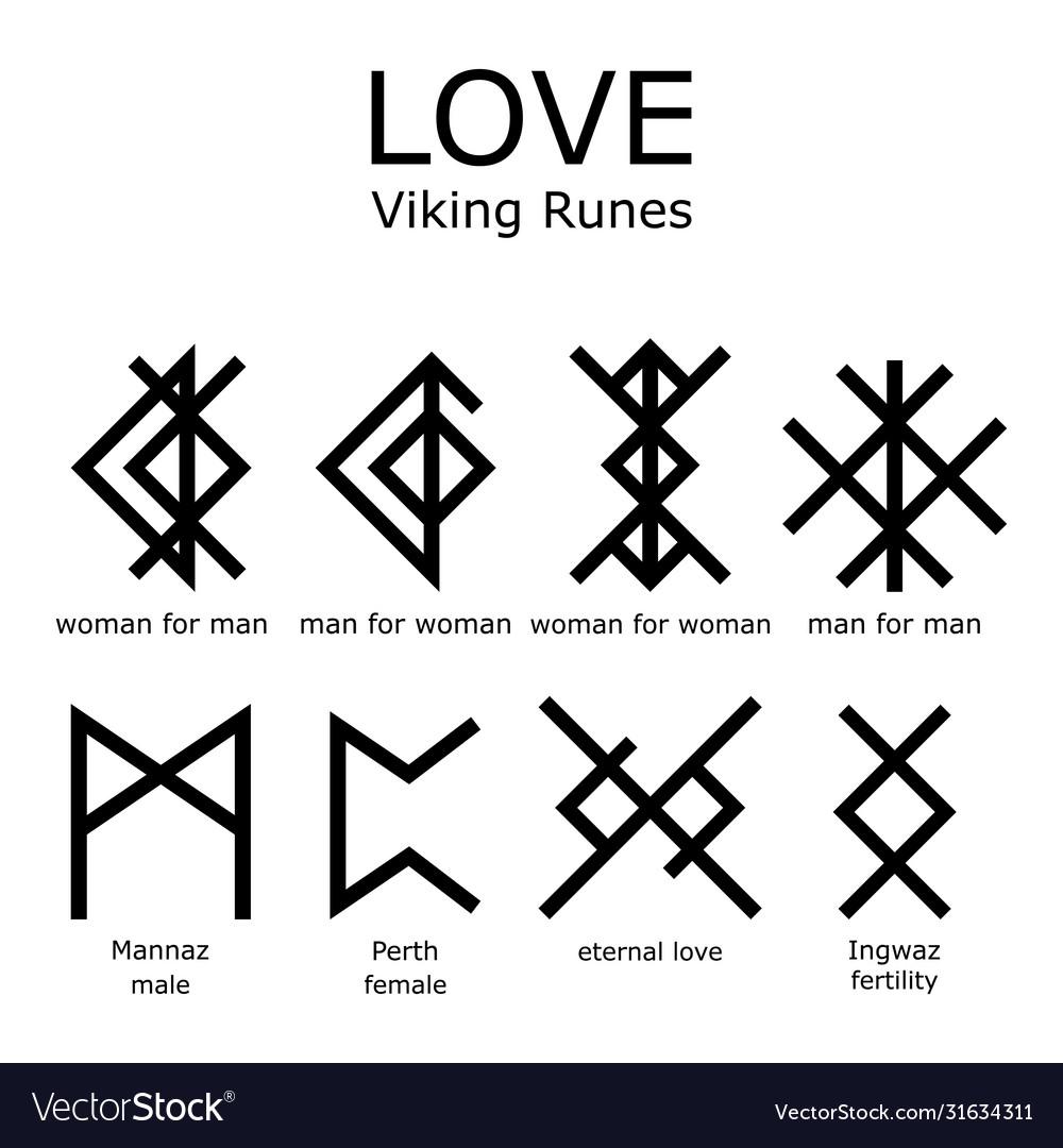 Love viking runes set bind runes