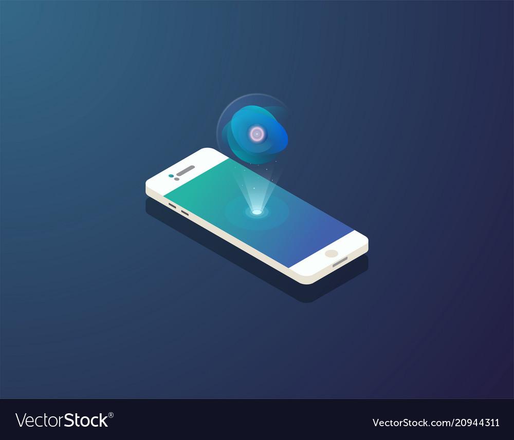 Mobile isometric phone