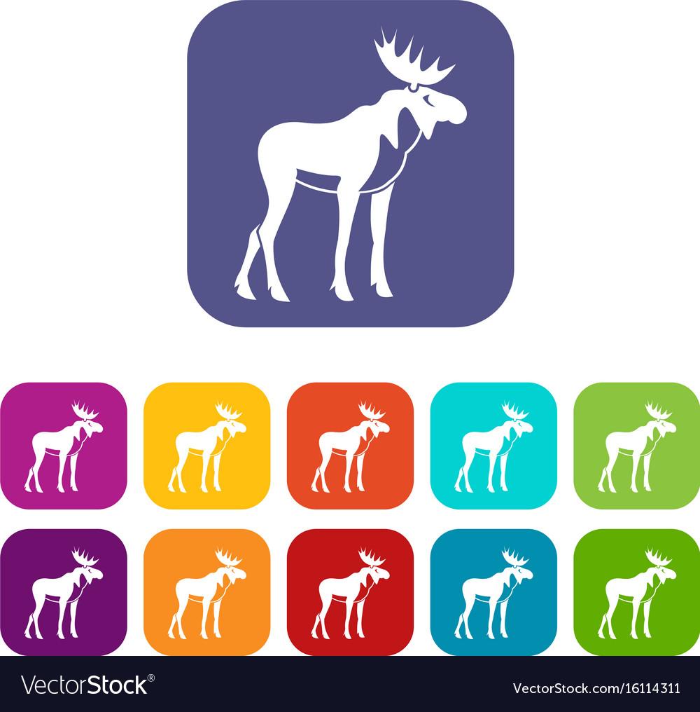 Moose icons set