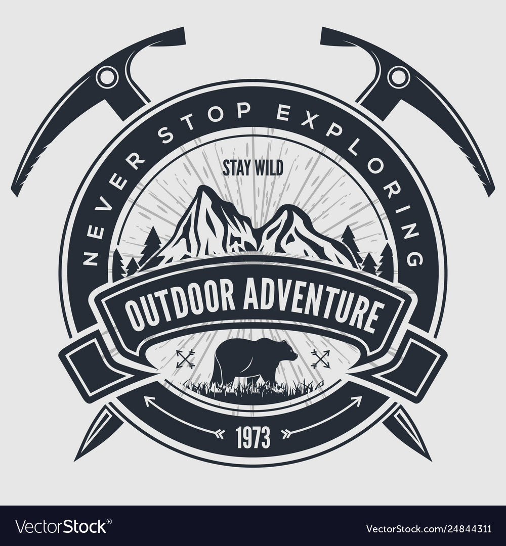 Outdoor adventure vintage label badge or emblem